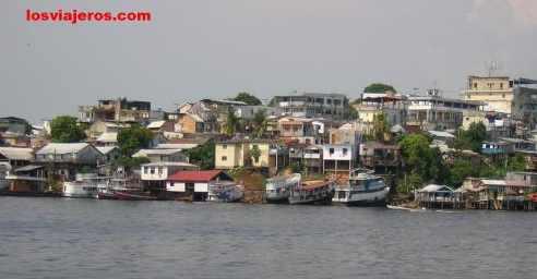 The city of Manaus in Amazon River - Manaos - Brasil - Brazil.