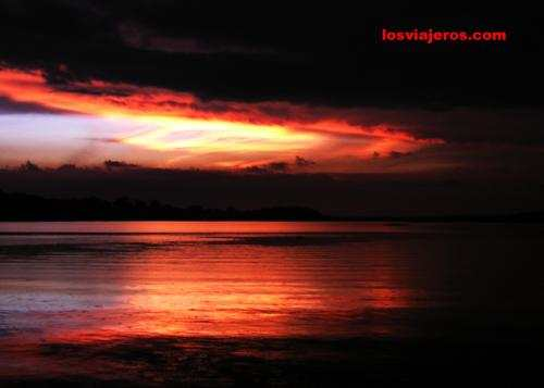Red storm over the Amazon River & Forest - Brasil - Brazil.Red storm ...