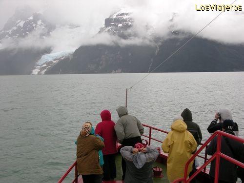 Glaciar on boat - Patagonia- Chile Fiordo Ultima Esperanza - Patagonia - Chile