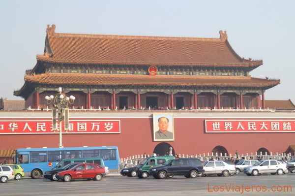 Puerta de Tiananmen desde la Plaza de Tiananmen - Pekin - China Tiananmen gate - Beijing - China