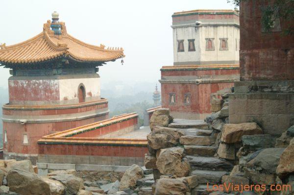 Edificios tradicionales chinos en el Palacio de Verano - Pekin - China Traditional Chinese buildings in Summer Palace - Beijing - China