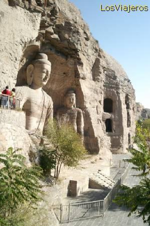 Las cuevas o grutas rupestres de Yungang -Datong- China Yungang caves or grotes near Datong - China
