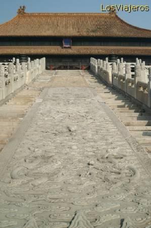 Friso de mármol -La Ciudad Prohibida -Gungong- Beijing - China The Forbidden City -Gungong- Beijing - China
