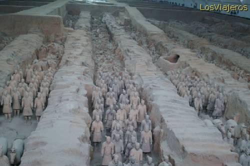 Los Guerreros de Terracota de Xian - China The Terra Cotta Warriors and Horses of Xian - China