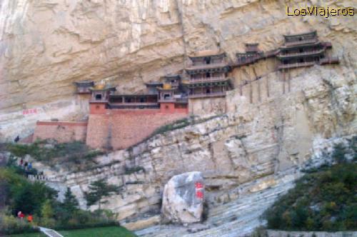 The hanging Temple -Xuankong Si- China Templo Colgado - Xuankong Si -Shanxi- China