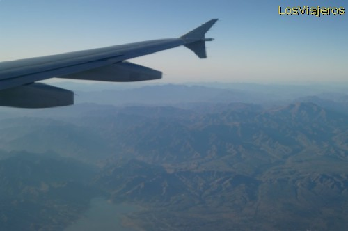 Mongolia Interior vista desde el avión - China Inner Mongolia,  - China