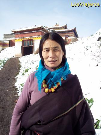 Mujer tibetana -Langmusi- China Tibetan Woman - Langmusi - China
