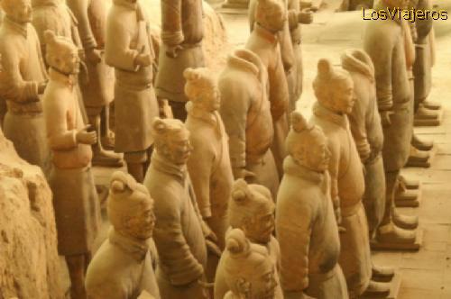The Terra Cotta Warriors and Horses of Xian - China Los Guerreros de Terracota de Xian - China