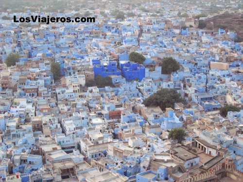 La ciudad azul de Jodhpur - Rajastan - India The blue town of Jodhpur -Rajasthan - India