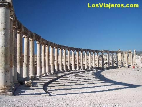 Roman Forum of Jerash- Jordan Foro romano de Jerash- Jordania