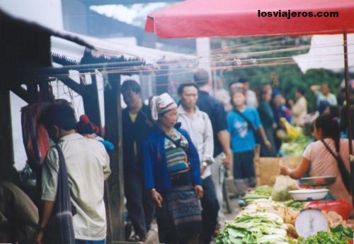 Mercado de Muang Sing. - Laos Muang Sing's Market - Laos
