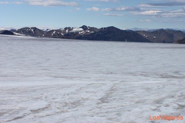 Vista del Glaciar Vatnajokull - Islandia View of Vatnajokull Glacier - Iceland