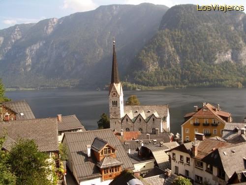 Hallstatt Scenary - Austria Panorámica de Hallstatt - Austria