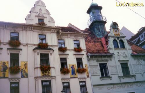 Graz - Houses - Austria Graz - fachadas pintadas - Austria