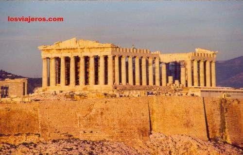Partenon's sunset view from Filopapu's Hil- Acropolis - Atenas - Athens - Greece Atenas: Partenon's sunset view from Filopapu's Hil- Acropolis - Grecia