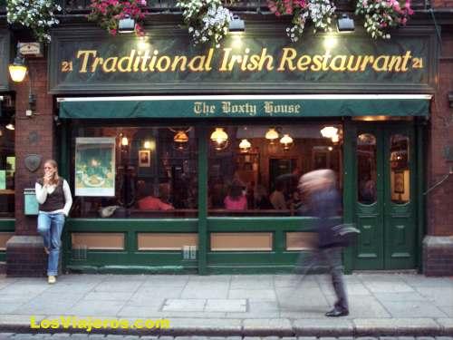 Restaurante en barrio de Temple Bar - Dublin - Irlanda