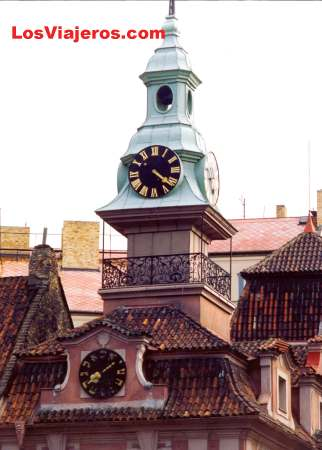 Jewish Clock - Prague - Czech Republic Reloj Judio - Praga - República Checa - Checa Rep.