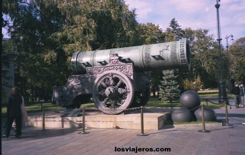 Cañon del zar Ivan el Terrible en el Kremlin (5m y 40 toneladas). - Rusia Tsar Ivan's Cannon - Kremlin - Moscow - Russia