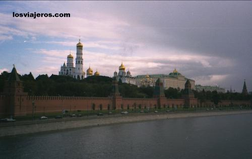 Kremlin (Kreml) Fron Moskva River - Moscow - Russia - Rusia Kremlin (Kreml) Fron Moskva River - Moscow - Russia