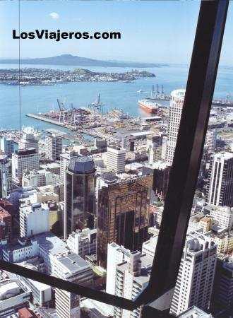 Vista de la ciudad de Auckland - Nueva Zelanda Center of the town from the Skytower- Auckland - New Zealand