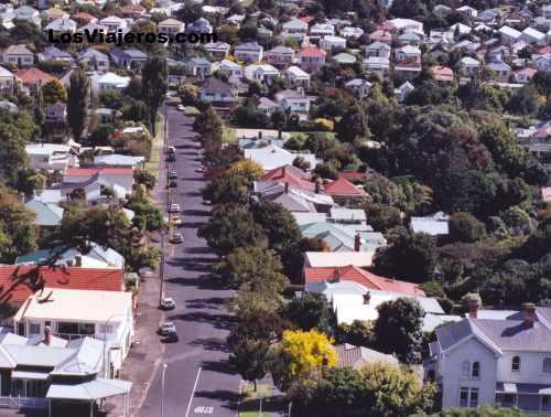 Streets of Devonport (Auckland) - New Zealand Barrio típico de una ciudad de Nueva Zelanda