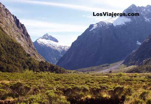 Paisajes - Monkey River - entre Queenstown y Milford Sound - Nueva Zelanda Monkey River - way from Queenstown to Milford Sound - New Zealand